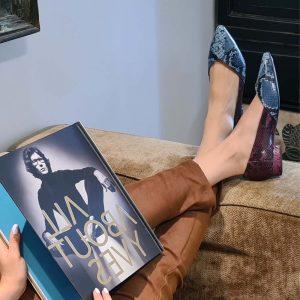 נעליים שטוחות עם חרטום שפ