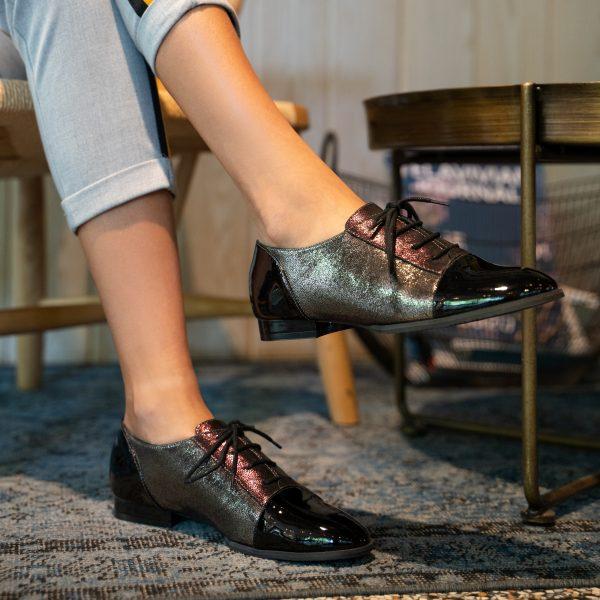 נעלי עור אוקספורד מעוצבות